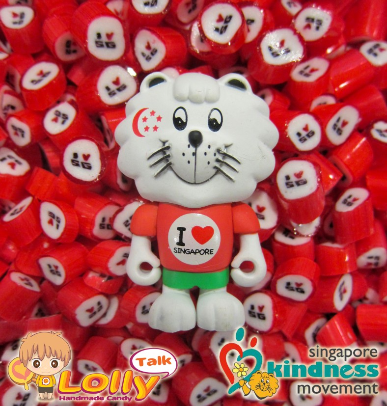 Singa Figurine with I LOVE SG lollies... by LollyTalk